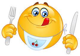 smiley lekker eten